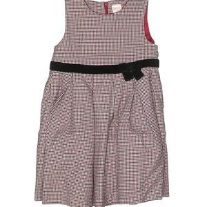 Gymboree Red Black White Houndstooth Pattern Dress